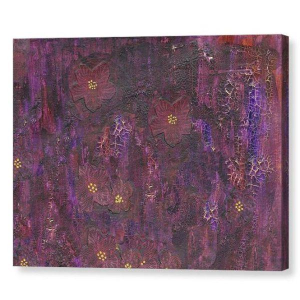 Purple Mixed Media Background Canvas Print Wall Art