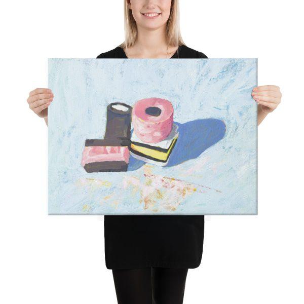Liquorice Allsorts on Blue Canvas Print Wall Art