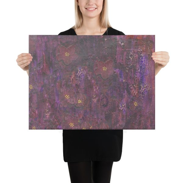 Purple Mixed Media Background Canvas Print Wall Art