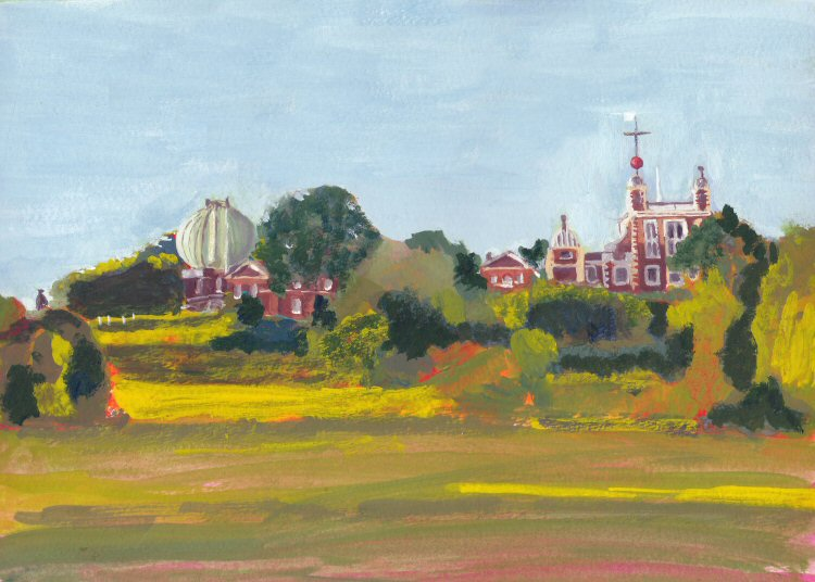 The Royal Observatory, Greenwich, Casein Painting
