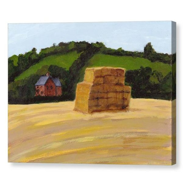 Haystack in England Canvas Print for Home Decor