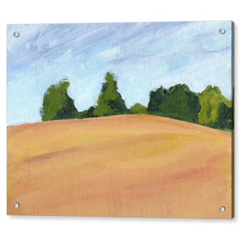 Kent Countryside Landscape Painting 18 x 24 inches Acrylic Print Wall Art