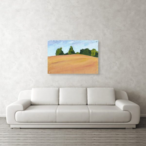 Kent Countryside Landscape Painting 24 x 36 inches Acrylic Print Wall Art
