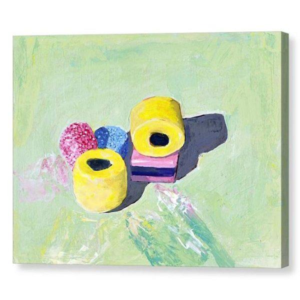 Bassetts Liquorice Allsorts Canvas Print for Home Decor 12x16