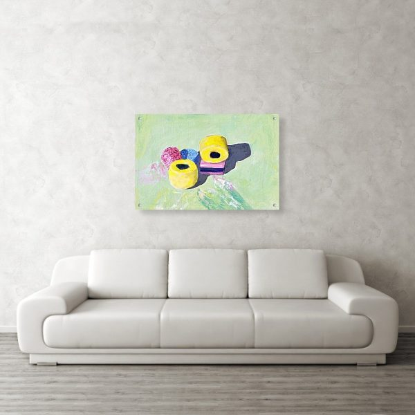 Liquorice Allsorts Painting 24 x 36 inches Acrylic Print Wall Art