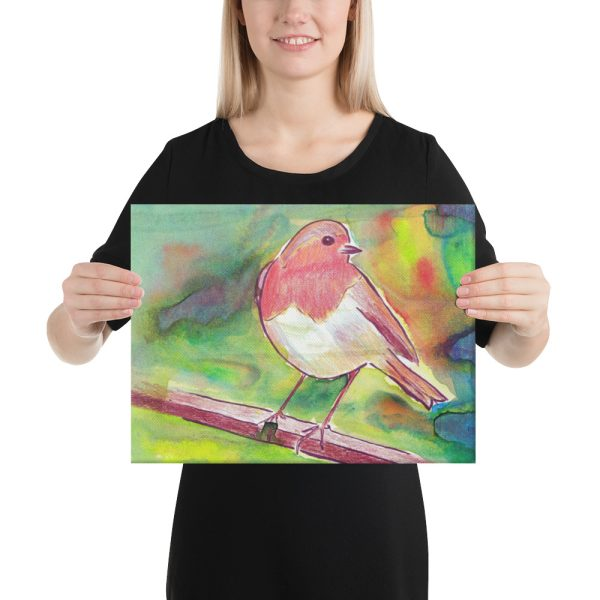 Robin Redbreast Canvas Print for Home Decor