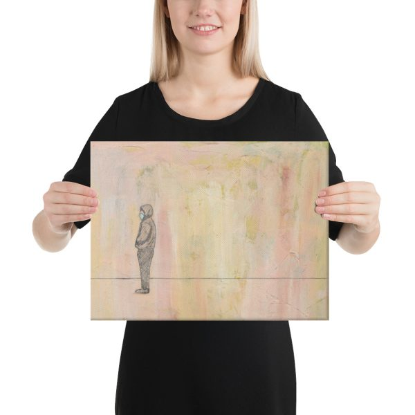 Social Distance Standing Canvas Print for Home Decor