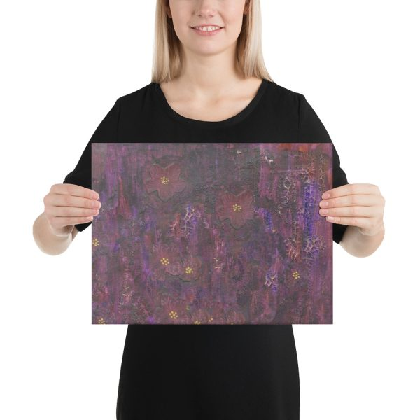 Purple Mixed Media Background Canvas Print for Home Decor