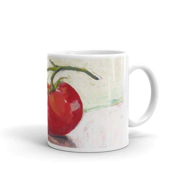 Three Tomatoes Still Life Painting 11oz Ceramic Coffee Mug
