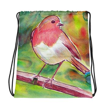 Robin Redbreast Drawstring Bag