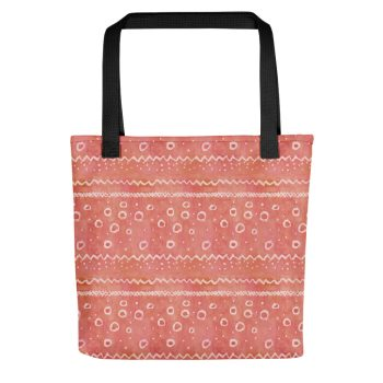 Red watercolour pattern tote bag