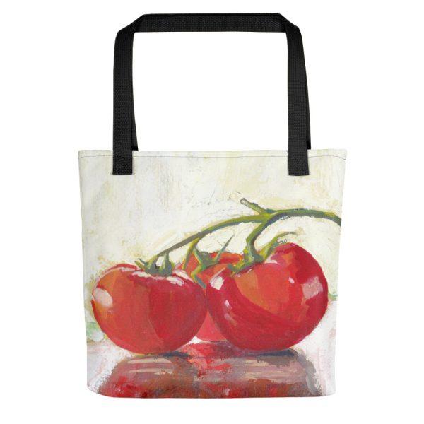 Three Tomatoes Still Life Painting Tote Bag