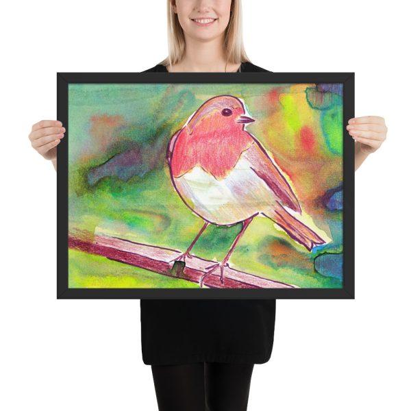 Robin Redbreast Framed Print 18x24
