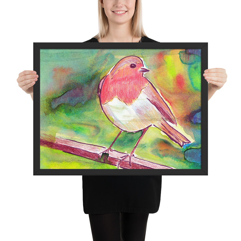 Robin redbreast painting.