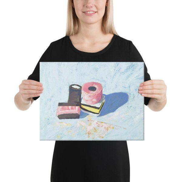 Liquorice Allsorts on Blue Canvas Print for Home Decor