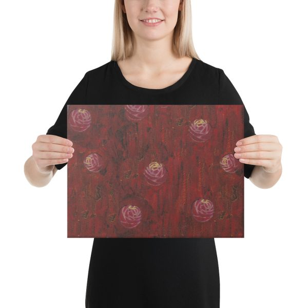 Red Mixed Media Background Canvas Print for Home Decor
