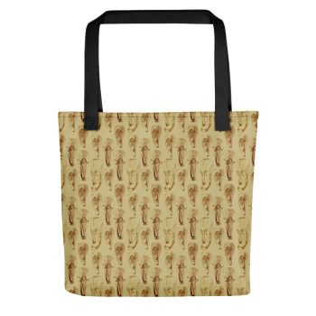 Brown African masks tote bag