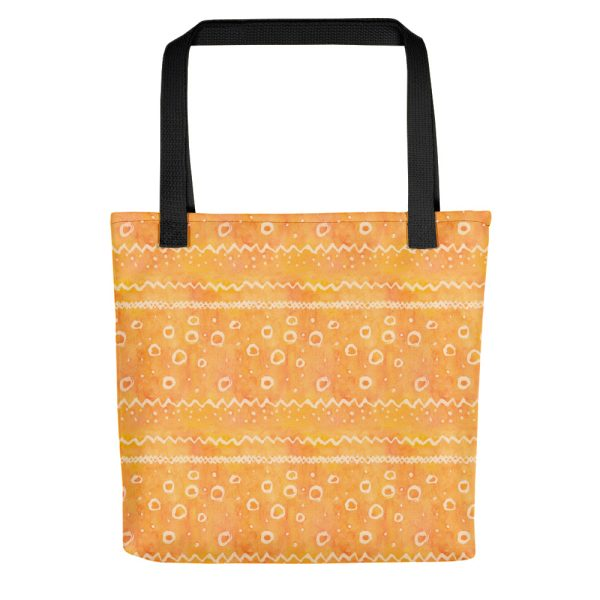 Orange watercolour pattern tote bag