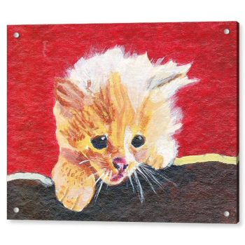 Naughty Kitten Painting 18 x 24 inches Acrylic Print Wall Art