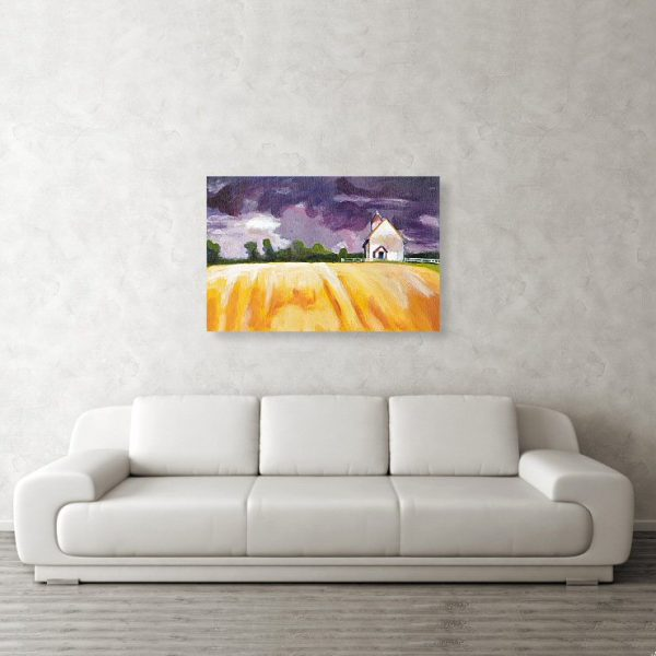 orange fields and purple skies canvas print wall art