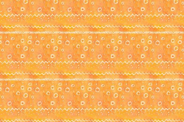 Orange Textured Watercolour Pattern
