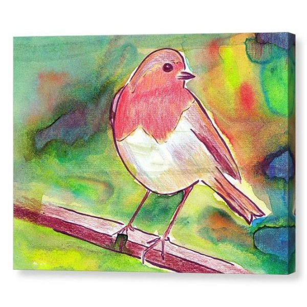 Robin Redbreast Canvas Print Wall Art 12x16
