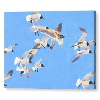 Flock of Seagulls Canvas Print Wall Art 12x16