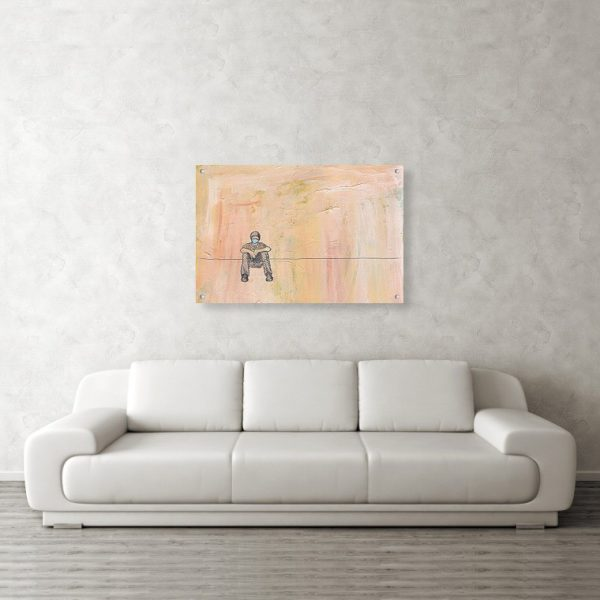 Social Distancing Painting 24 x 36 inches Acrylic Print Wall Art