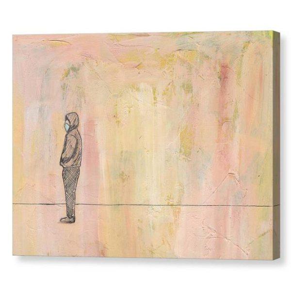 Social Distance Standing Canvas Print Wall Art 12x16