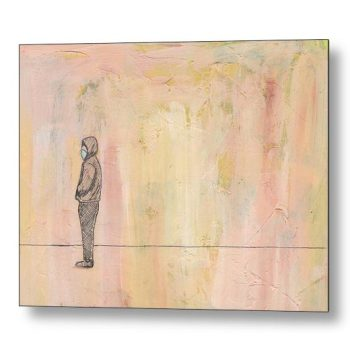 Social Distancing Standing 18 x 24 inches Metal Print Wall Art