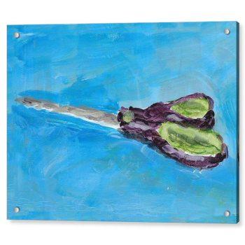 Still Life Scissors Painting 18 x 24 inches Acrylic Print Wall Art