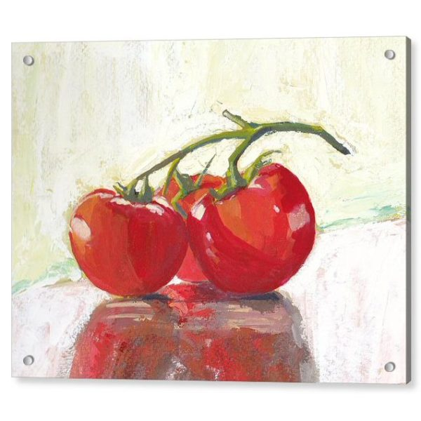 Three Tomatoes Still Life Painting 18 x 24 inches Acrylic Print Wall Art