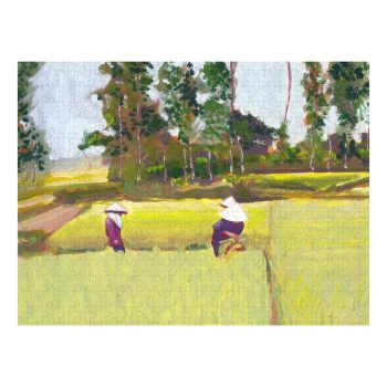 Vietnamese Paddy Fields Jigsaw Puzzle 500