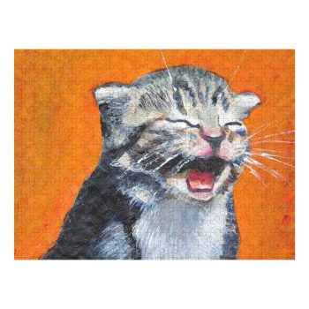 Laughing Kitten Meow Jigsaw Puzzle 500