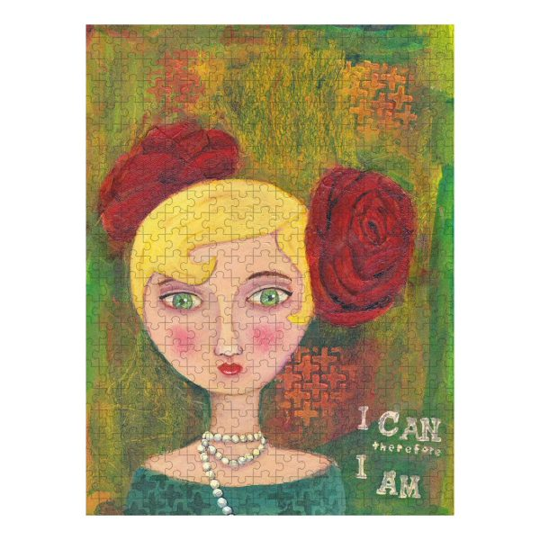 Mixed Media Lady Jigsaw Puzzle 500