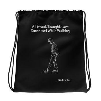 Nietzsche Great Thoughts Drawstring Bag