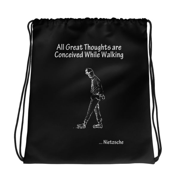 Nietzsche Great Thoughts Drawstring Bag
