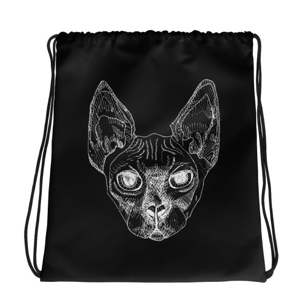 Sphynx Cat Drawstring Bag