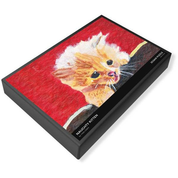 Naughty Kitten Jigsaw Puzzle Box