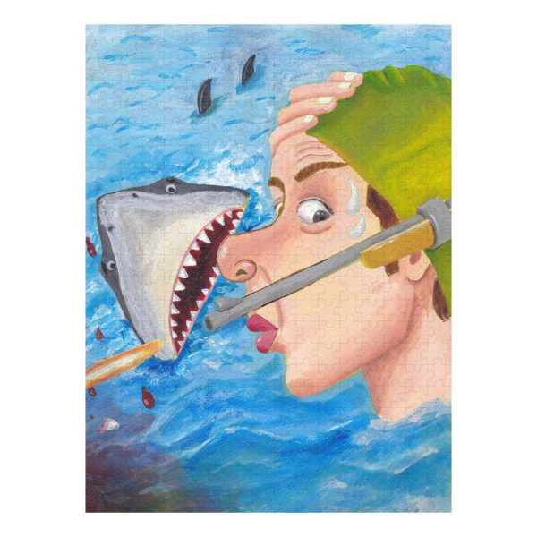Whew Shark Shock Jigsaw Puzzle 500