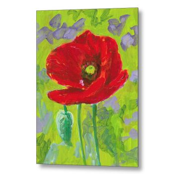Poppy Flower 18 x 24 inches Metal Print Wall Art