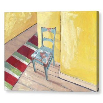 Runner and Teal Chair Canvas Print 12 x16 inches Wall Art