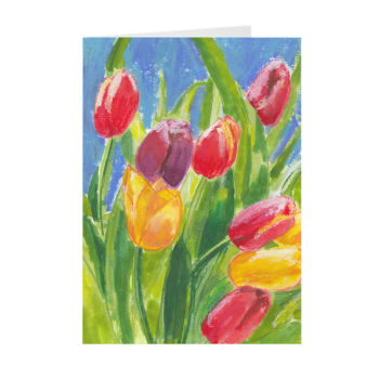 Colourful Tulips Greeting Card