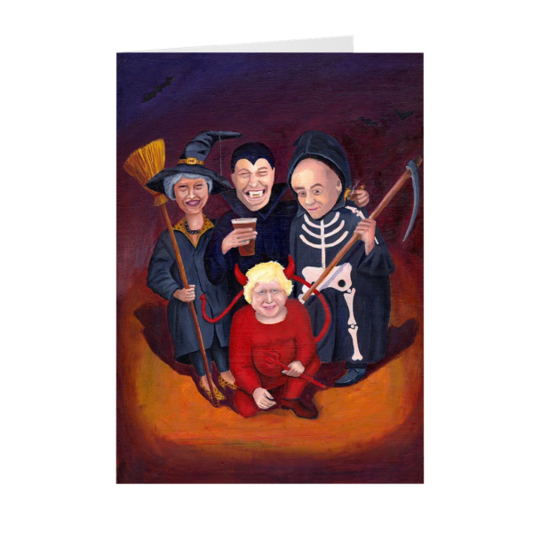 Brexit Halloween Greeting Card