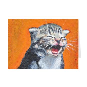 Laughing Kitten Meow Greeting Card