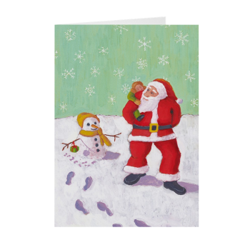 The Snowman's Present Greeting Card