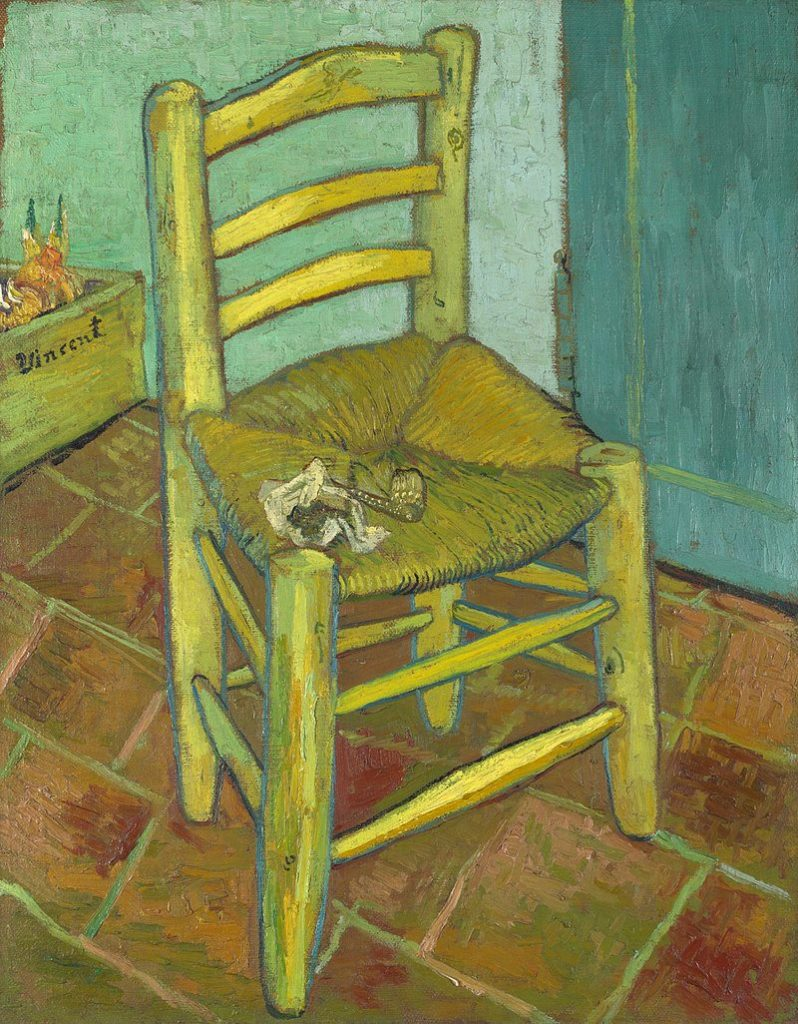 The Van Gogh Chair - an oil painting by Vincent Van Gogh