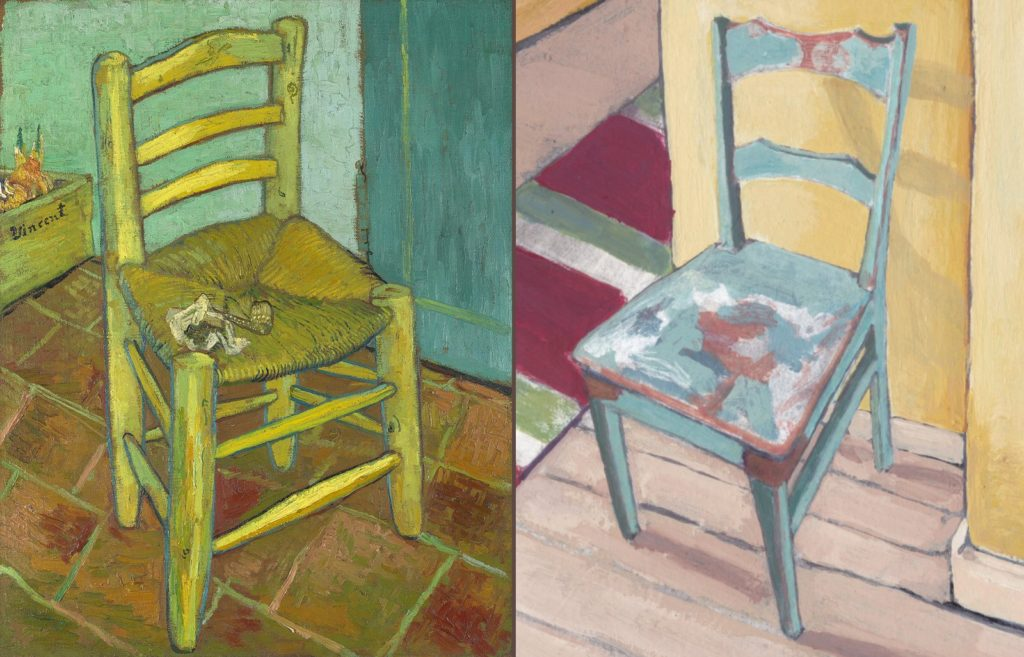 Van Gogh's Chair and Tina's Old Teal Chair