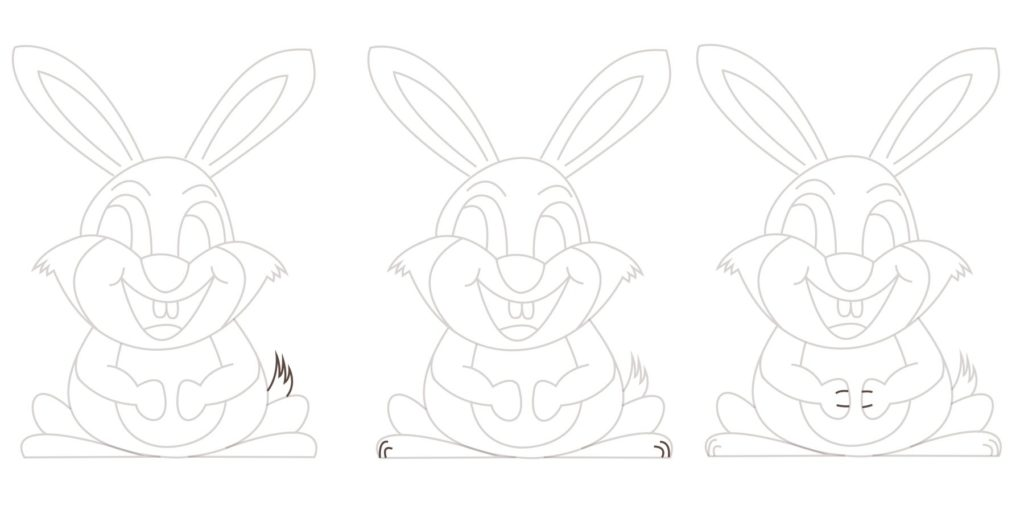 A bunny for Easter - bits and bobs