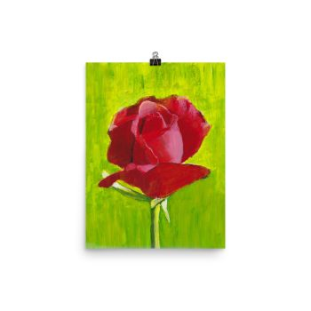 Red Rose Painting Framed Poster